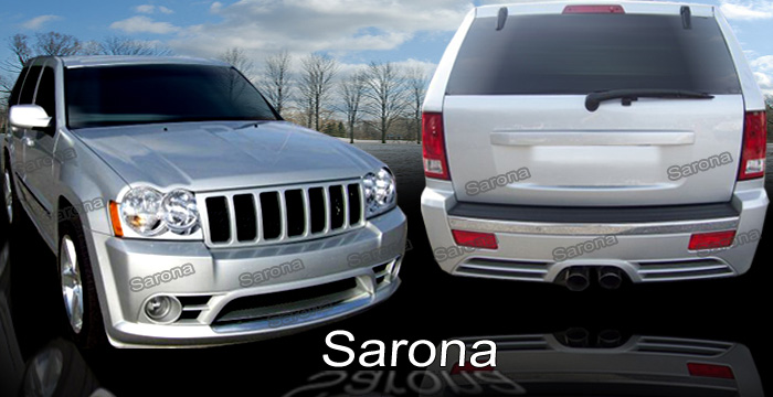 JEEP GRAND CHEROKEE SRT 8 BODY KIT. FRONT BUMPER, REAR BUMPER COVER AND SIDE SKIRTS.