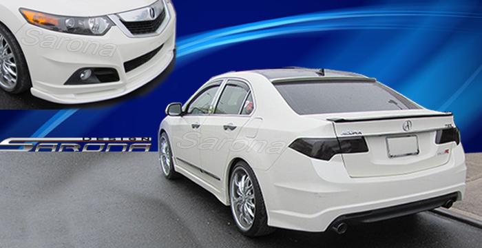 Ac Kt Acura Tsx Front Custom Rear Bumper Side Body Kit Spoiler Roof Trunk Wing Hood Grill Led Black Mesh Sarona