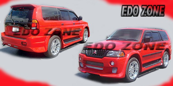 2000 03 mitsubishi montero sport 4 pcs full body kit kit 88 559 53600 body kit includes front rear bumpers 2 side skirts