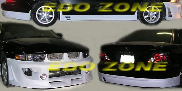 1999 2003 mitsubishi galant 5 pcs poly urethane body kit kit 56u egb 105900 body kit includes front bumper rear bumper add on spoiler 2 side - Mitsubishi Galant 2002 Body Kit