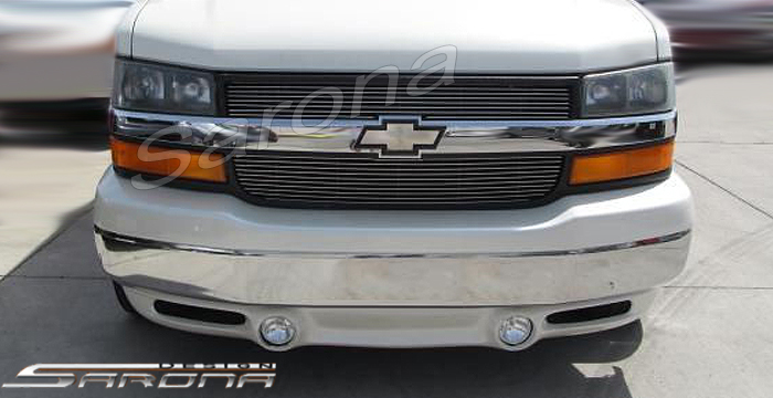 Passenger And Cargo Van Front Bumper Add On Lip Spoiler Kit ECH 007 FA 27500
